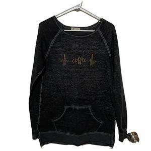 Gray Coffee Lightweight Sweatshirt M